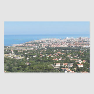 Spectacular aerial panorama of Livorno city, Italy