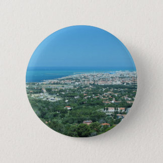 Spectacular aerial panorama of Livorno city, Italy 2 Inch Round Button