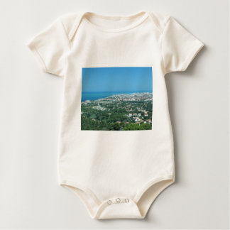 Spectacular aerial panorama of Livorno city, Italy Baby Bodysuit