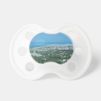 Spectacular aerial panorama of Livorno city, Italy Baby Pacifiers