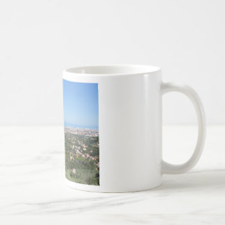 Spectacular aerial panorama of Livorno city, Italy Coffee Mug