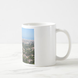 Spectacular aerial panorama of Livorno city, Italy Coffee Mug