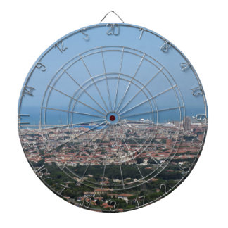Spectacular aerial panorama of Livorno city, Italy Dartboard