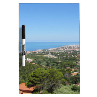 Spectacular aerial panorama of Livorno city, Italy Dry Erase Boards