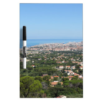 Spectacular aerial panorama of Livorno city, Italy Dry Erase Whiteboard