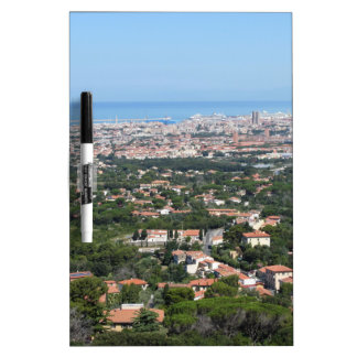Spectacular aerial panorama of Livorno city, Italy Dry Erase Whiteboards