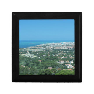 Spectacular aerial panorama of Livorno city, Italy Gift Box