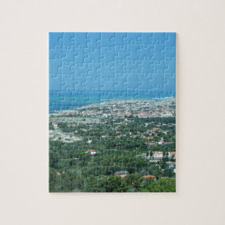 Spectacular aerial panorama of Livorno city, Italy Jigsaw Puzzle