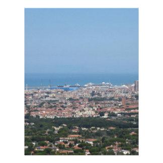 Spectacular aerial panorama of Livorno city, Italy Letterhead
