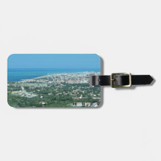 Spectacular aerial panorama of Livorno city, Italy Luggage Tag