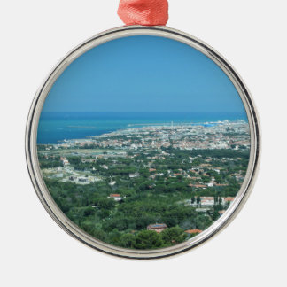 Spectacular aerial panorama of Livorno city, Italy Metal Ornament