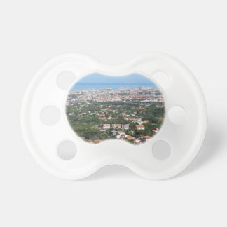 Spectacular aerial panorama of Livorno city, Italy Pacifier