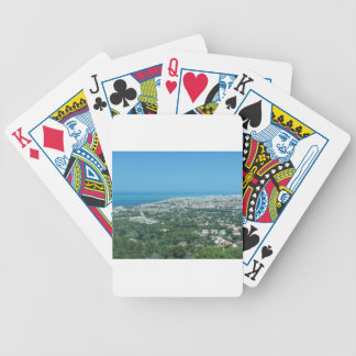 Spectacular aerial panorama of Livorno city, Italy Poker Deck