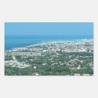 Spectacular aerial panorama of Livorno city, Italy Sticker