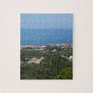 Spectacular aerial panorama of Livorno city Jigsaw Puzzle
