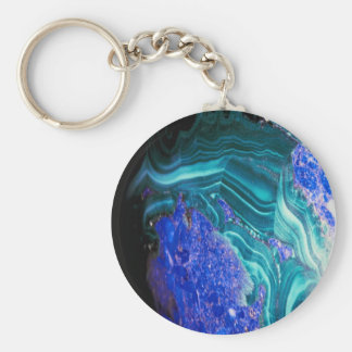 spectacular agate with opal, keychain