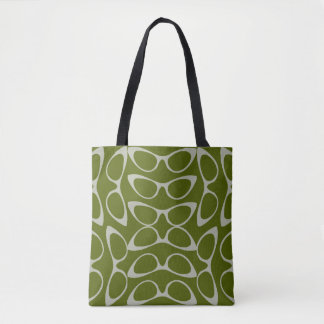 Spectacular Cat Eye Glasses Green White Fashion Tote Bag