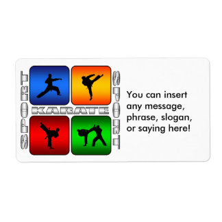 Spectacular Karate Custom Shipping Labels
