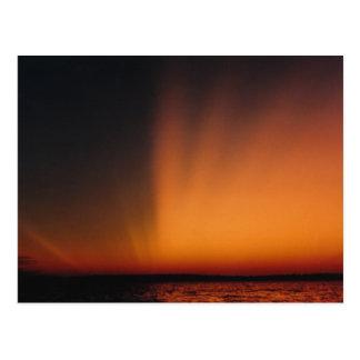 Spectacular Northern Lake Sunset Postcard
