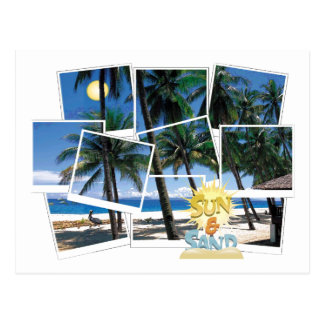 Spectacular Ocean, Sun & Beach View Postcard