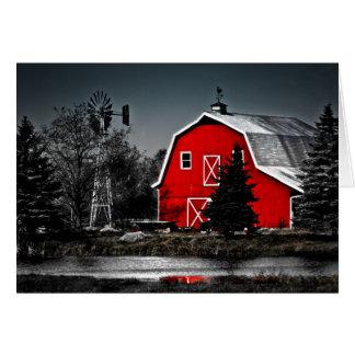 Spectacular Red Barn Card