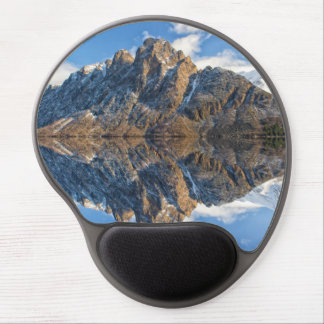 Spectacular snowy Hurtigruten mountains, Norway Gel Mouse Pad