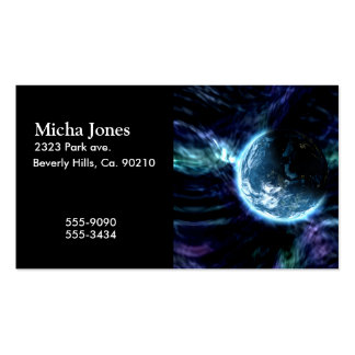 Spectacular Space Starry Aurora Nebula Business Card