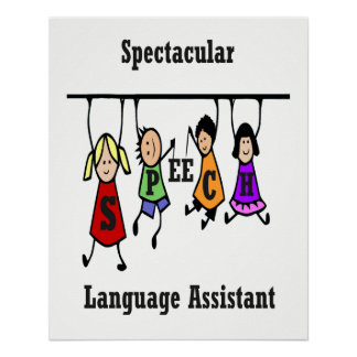 Spectacular Speech-Language Pathologist Assistant Poster