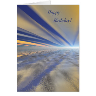 Spectacular Sunrise Art Happy Birthday Card