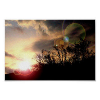 Spectacular Sunrise In The Southern Appalachian Mo Poster