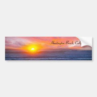 Spectacular Sunset at Huntington Beach Bumper Sticker