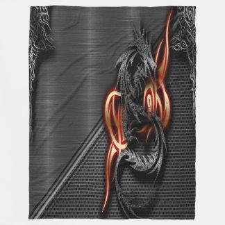 Spectral Dragon Fleece Blanket, Large