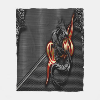 Spectral Dragon Fleece Blanket, Medium