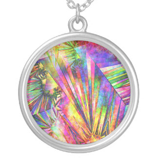 Spectral Edge Silver Plated Necklace