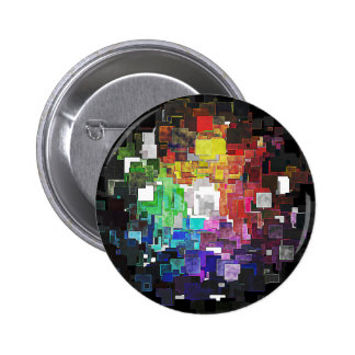 Spectral Geometric Abstract 2 Inch Round Button