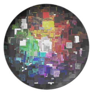 Spectral Geometric Abstract Party Plates