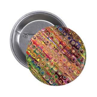 Spectral Glass Beads 2 Inch Round Button