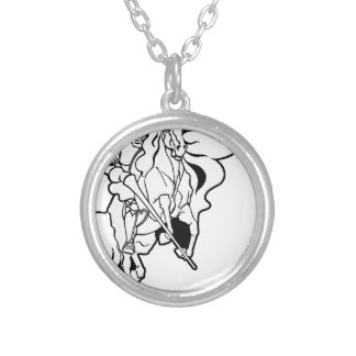 Spectral Knight Silver Plated Necklace
