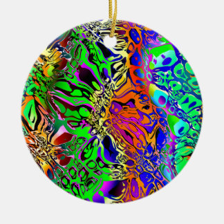 Spectral Shapes Abstract Ceramic Ornament