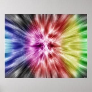 Spectral Tie Dye Poster