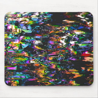 Spectral Triangles Glitch Mouse Pad