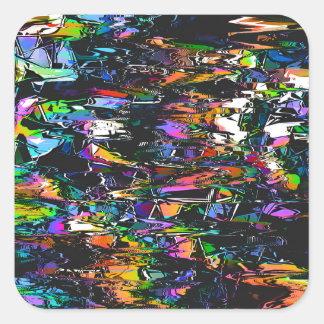 Spectral Triangles Glitch Square Sticker