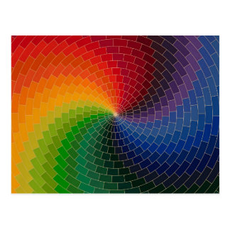 Spectrum Color Wheel Postcard