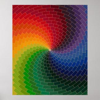 Spectrum Color Wheel Poster