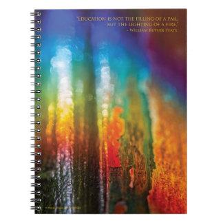 Spectrum design, for teachers - Spiral Notebook