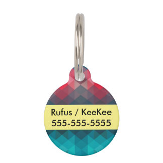 Spectrum Geometric Background Pet Name Tag