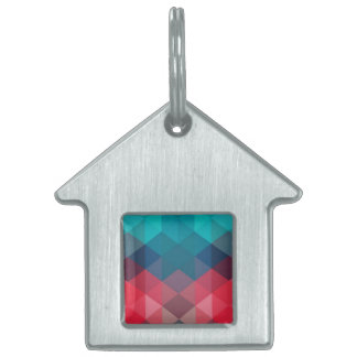 Spectrum Geometric Background Pet Name Tags