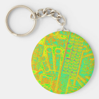 Spectrum reversed manhole cover basic round button keychain