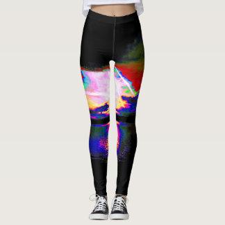 Spectrum saturated sunrise leggings