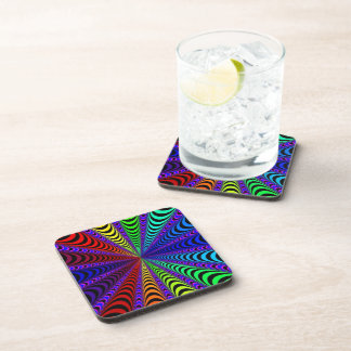 SPECTRUM Spiral, Visual Illusion, Rainbow / Purple Coaster